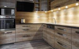 Деревянный шкаф в спальне Стоковые Изображения