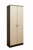 Деревянный шкаф на белизне Стоковое фото RF