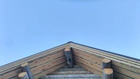 Деревянный щипец Стоковые Изображения RF