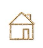 Деревянный эко-дом лепешки стоковая фотография