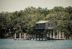 Деревянный Boathouse Стоковая Фотография RF