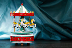 Деревянный Carousel игрушки Стоковое фото RF
