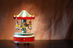 Деревянный Carousel игрушки Стоковые Фото