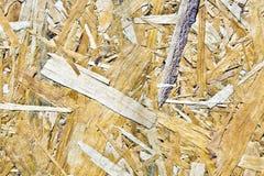 Деревянный chipboard как предпосылка Стоковое Изображение