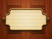 Деревянный doorplate Стоковое фото RF