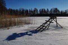 Деревянный footbridge Стоковые Изображения RF