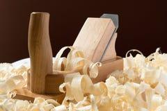 Деревянный jointer с shavings Стоковое Изображение RF