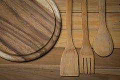 Деревянный Kitchenware Стоковое Изображение RF