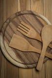 Деревянный Kitchenware Стоковые Фото