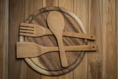 Деревянный Kitchenware Стоковое фото RF