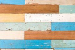 Деревянный multi текстурированный цвет Стоковая Фотография RF