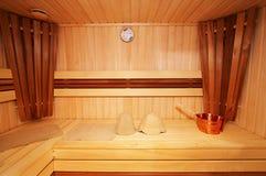 Деревянный sauna стоковые изображения