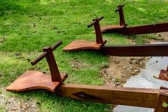 Деревянный seesaw 3 Стоковое Фото