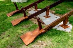 Деревянный seesaw 3 Стоковая Фотография