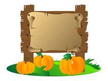 Деревянный signboard Стоковое фото RF