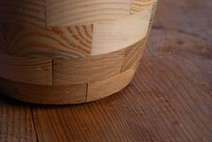 Деревянный tableware, деревянный конец-вверх картины предпосылки текстуры доски, стоковая фотография rf