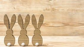 3 деревянных зайца Стоковое Фото