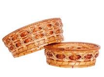 2 деревянных корзины Стоковые Изображения RF