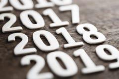 2018 деревянных номеров Стоковое Фото