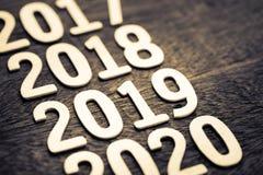 2019 деревянных номеров Стоковая Фотография