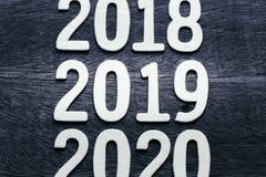 2019 деревянных номеров Стоковые Фотографии RF