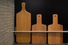 3 деревянных прерывая доски Стоковые Фотографии RF