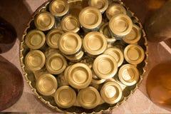 Держатели чашки золота Стоковые Фотографии RF