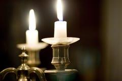 держатель света горящей свечи Стоковые Изображения