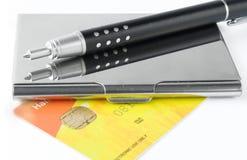 держатель случая визитной карточки Стоковые Изображения