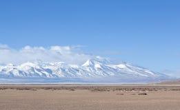 Держатель Gurla Mandhata и табун kiangs в Тибете, Китае Стоковая Фотография RF