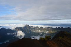 Держатель Rinjani, Lombok, Индонезия Стоковое Фото