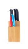 Держатель ножа сделанный от древесины Стоковые Изображения