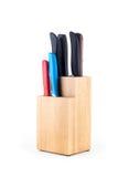 Держатель ножа сделанный от древесины Стоковые Фото