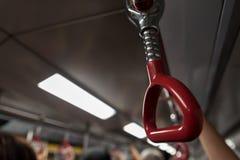 Держатель руки поезда Mtr Стоковое фото RF