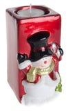 Держатель для свечи рождества на предпосылке Стоковое Изображение RF