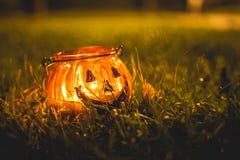 Держатель для свечи хеллоуина Стоковая Фотография