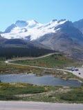 Держатель Athabasca на национальном парке яшмы Стоковое Изображение