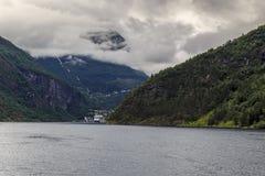 Держатель Dalsnibba и Geirangerfjord, Норвегия стоковое фото rf