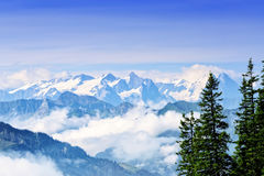 Держатель Stanserhorn в Швейцарии Стоковое Изображение RF