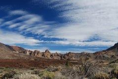 Держатель Teide скалистого пейзажа близко вулкан на Тенерифе Стоковое Изображение RF