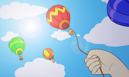 Держать воздушный шар Стоковые Изображения