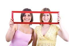 держать девушок рамки Стоковая Фотография RF