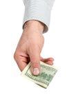 Держать деньги стоковая фотография
