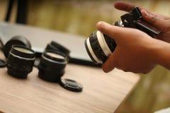 Держать камеру, версия 3 стоковые изображения