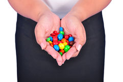 Держать конфету Стоковая Фотография RF