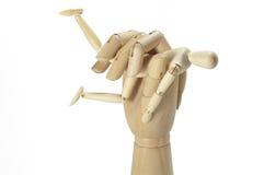 Держать кулачок человек Стоковые Фотографии RF