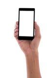 Держать мобильный телефон Мобильный телефон Стоковое фото RF