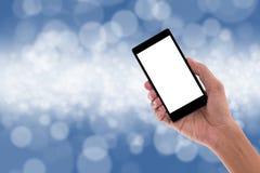 Держать мобильный телефон Мобильный телефон Стоковые Фото