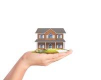 Держать домашнюю модель, концепция займа Стоковое фото RF