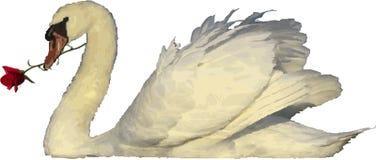 держать розового лебедя Стоковые Фото